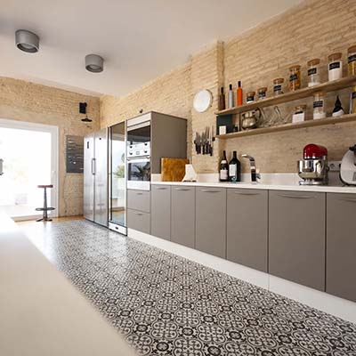 Modern, bright, clean, kitchen interior