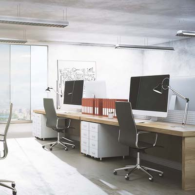 Clean office interior